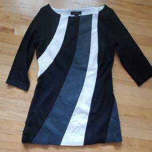 White House Black Market 3/4 sleeve tunic size M